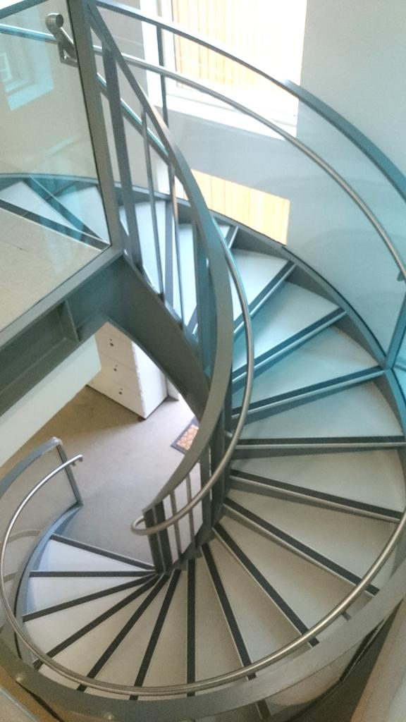 Excel Fabrications - Spiral Staircase After